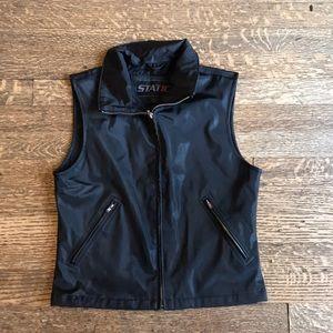 Static moto style vest